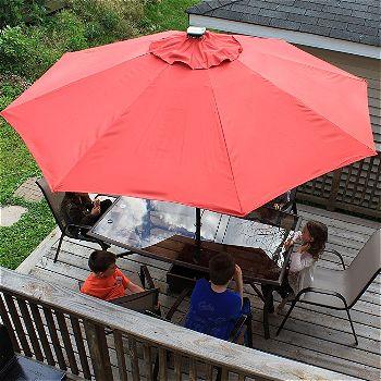 Abba Patio 9' Patio Umbrella with Solar Powered 24 LED Lights