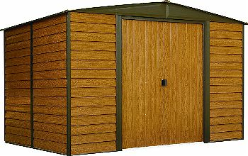 Arrow Woodridge Low Gable Steel Storage Shed