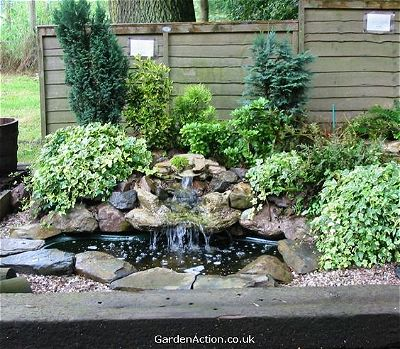 Au Naturale Small Pond Waterfall Ideas