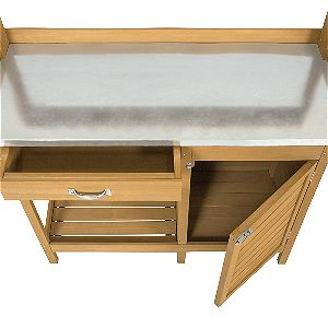 Best Choice Products Metal Tabletop Potting Bench Work Station
