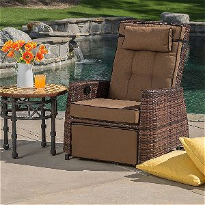 Best Selling PE Wicker Outdoor Recliner