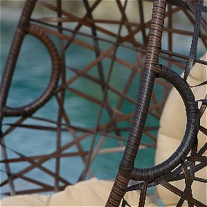 Chistopher Knight Egg Chair Wicker Detail
