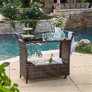Great Deal Furniture Benett Serving Cart, the Best Outdoor Serving Cart