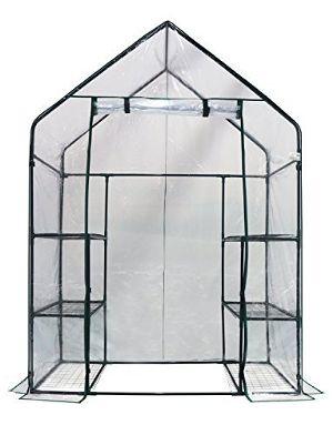 Homewell Mini Walk-In Greenhouse 3 Tiers 6 Shelves