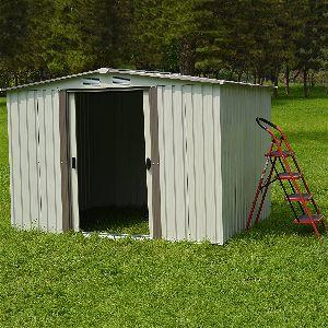Kinbor New 8 x 6 Outdoor White Steel Garden Storage Utility