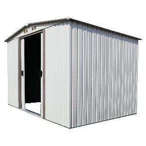 Kinbor Outdoor White Steel Garden Storage Shed