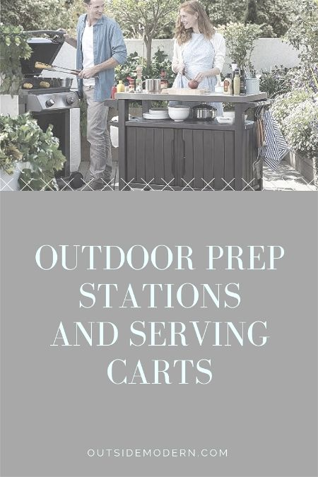 Outdoor Prep Stations and Serving Carts