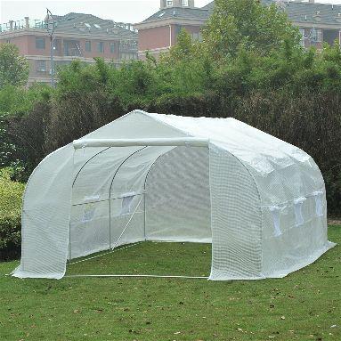 Outsunny 11' x 10' x 7' Portable Walk-In Garden Greenhouse