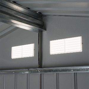 Outsunny Metal Utility Storage Shed