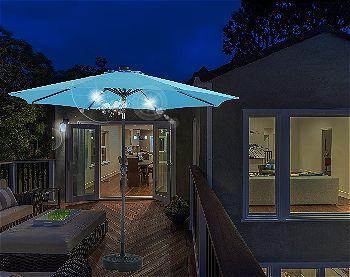 Patio Watcher 9 Ft 40 LED Aluminum Patio Umbrella, The Best Patio Umbrella  With