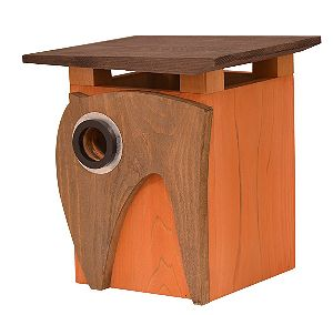 Rosso's International Art Deco Cedar Birdhouse