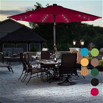 Sundale Patio Umbrella With Solar LED Lights