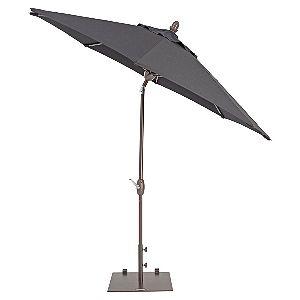 TrueShade Plus Patio Umbrella in Sunbrella Black