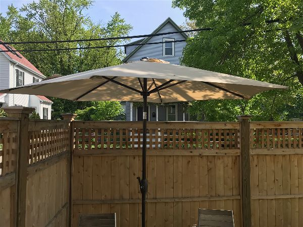 9ft Abba Patio Tilting Umbrella