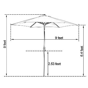 Abba Patio 6 Rib Dimensions