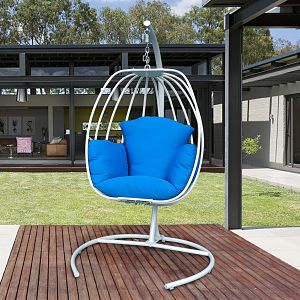 Art to Real Blue Hanging Egg Chair