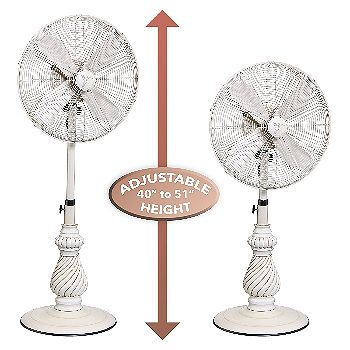 Designer Aire Oscillating Outdoor Pedestal Fan Height
