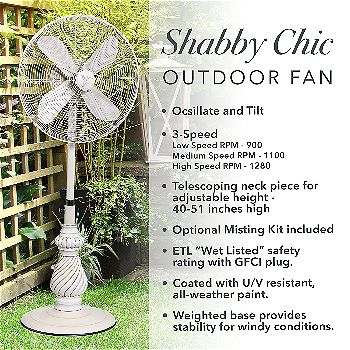 Designer Aire Oscillating Outdoor Standing Floor Fan