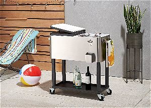 TRINITY TXK 0802 Stainless Steel Cooler With Shelf