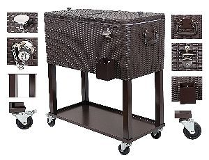 Trinity TXK-0802 Stainless Steel Cooler with Shelf 2- Pack