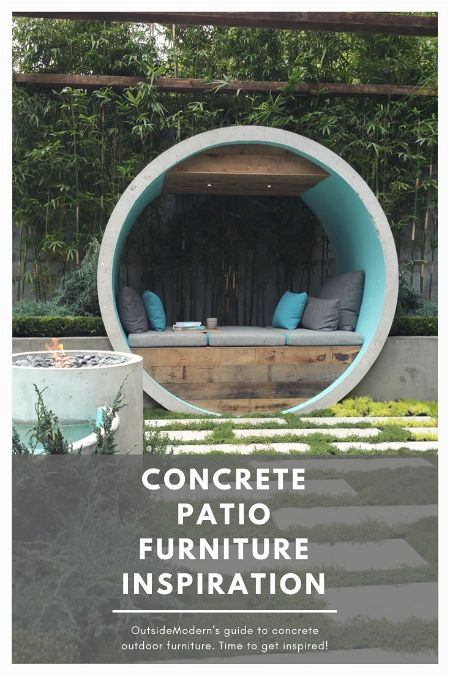 Concrete Patio Furniture Inspiration