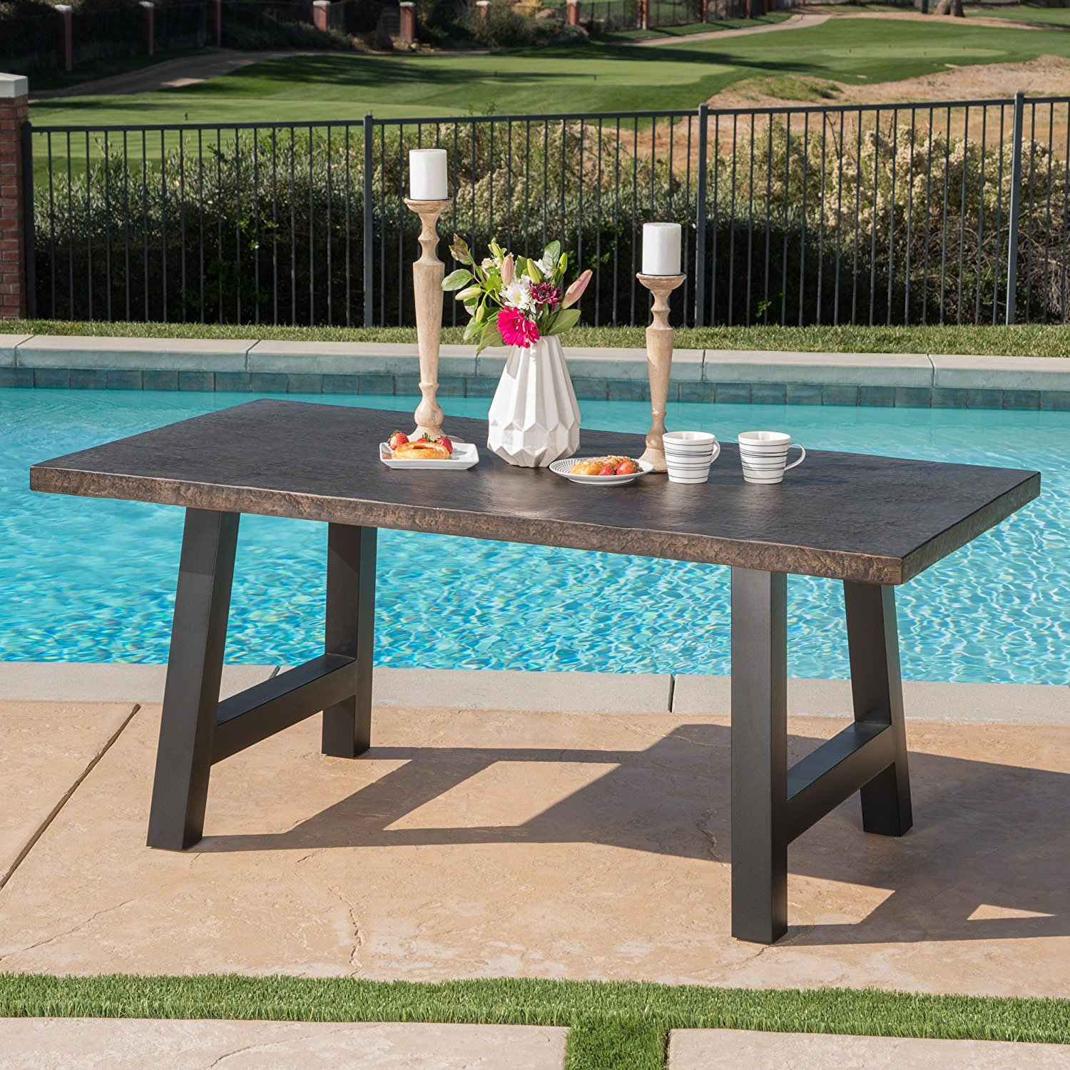 Great Deal Furniture Doris Concrete Dining Table