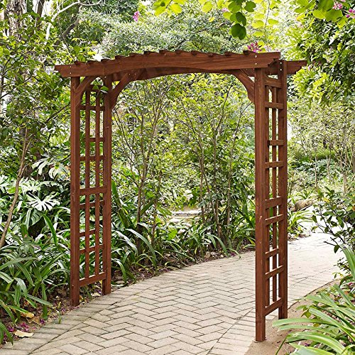 Halstead Wooden Arbor - Pergola Vs. Arbor: Which Is Right For Your Garden? - OutsideModern