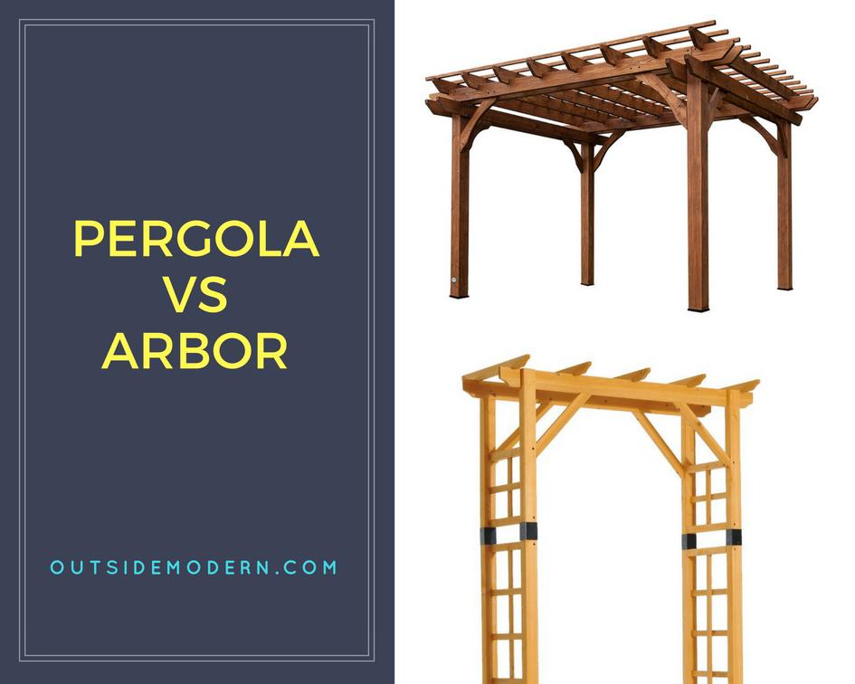 Pergola vs. Arbor