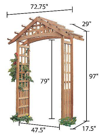 Arboria Nantucket Garden Arbor Dimensions