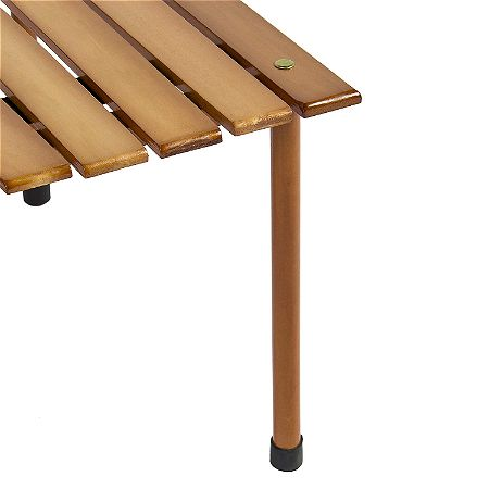Best Choice Products Foldable Portable Wooden Table Leg Detail