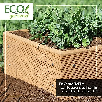 EcoGardener Composite, one of the Best Raised Garden Beds Available