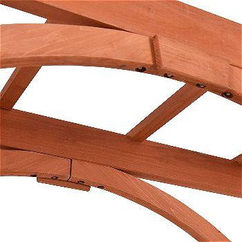 Giantex Wooden Garden Arbor Arch Detail