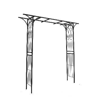Go Steel Garden Arch Gothic Arbor