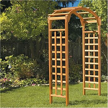 Greenstone Arch Arbor- Natural