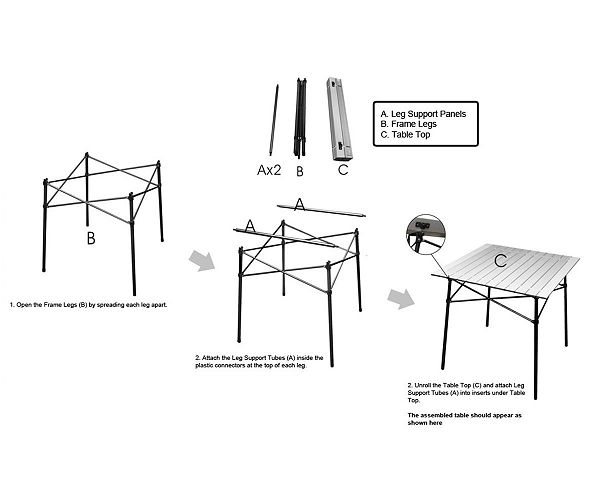 Timber Ridge Roll Up Table Assembly