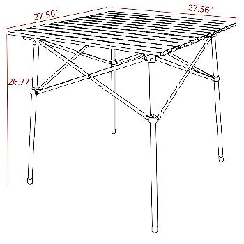 Timber Ridge Roll Up Table Dimensions