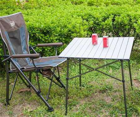 Timber Ridge Portable Roll-Up Aluminum Camping Folding Table