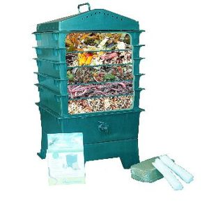 Vermihut 5 Tray Worm Composter Cutout