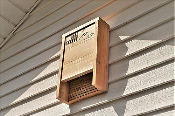 Applewood Outdoor Bat House on Siding