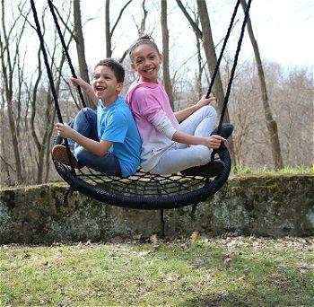 M & M Sales Enterprises Web Riderz Outdoor Swing N- Spin