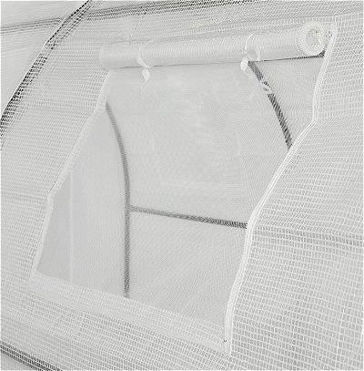 OGrow Walk in Tunnel Greenhouse Ventilation and Frame Detail