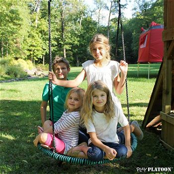 Play Platoon Spider Web Tree Swing for Kids