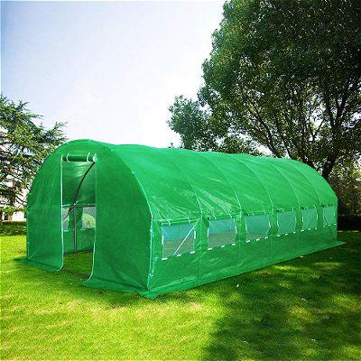 Quictent Galvanised 2 Door Portable Greenhouse