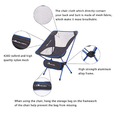 Moon Lence Outdoor Folding Chair Features