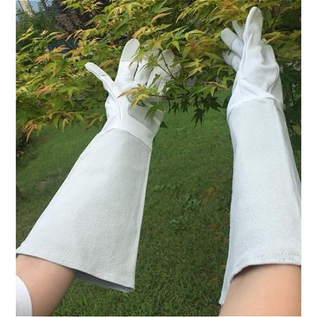 Pigskin Leather Thornproof Gardening Gloves Long Sleeve
