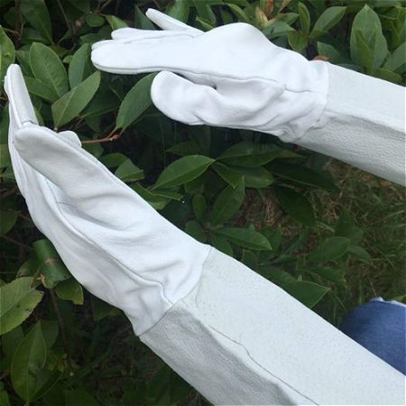 Garden Grip Pigskin Gauntlets, the best Gardening Gloves for Thorns