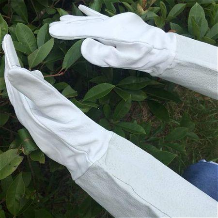 Garden Grip Pigskin Gauntlets, the best Gardening Gloves for Thorns