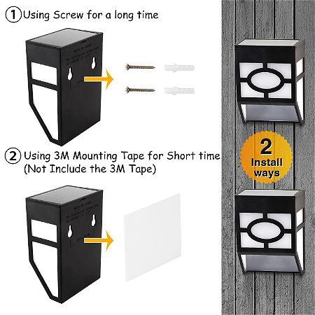 Greluna Solar Deck Lights Install Methods