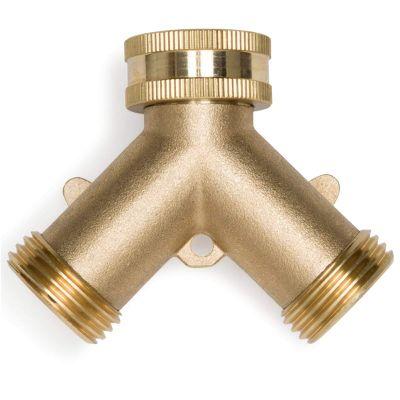 Morvat Heavy Duty Brass Garden Hose Connector Tap Splitter 2 Way