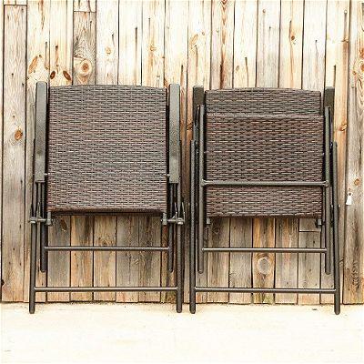Phi Villa Rattan Chair Folded Up